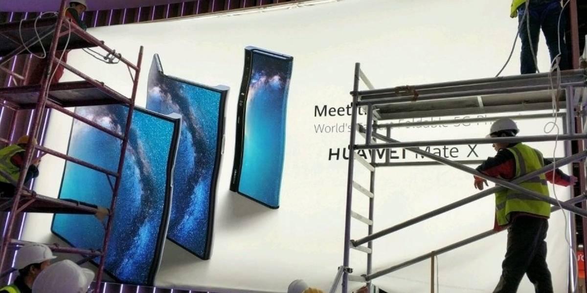 Vean la primera imagen del smartphone plegable Huawei Mate X