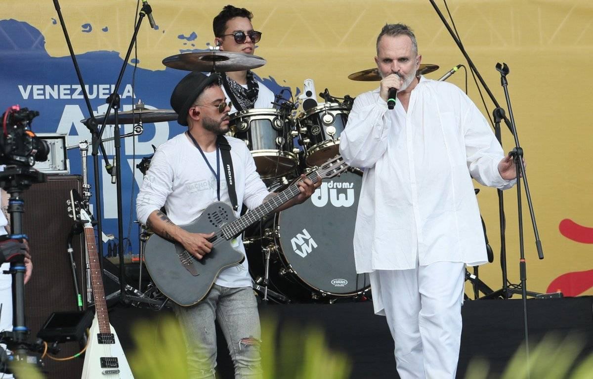 Miguel Bosé en el concierto Venezuela Aid Live en Cúcuta