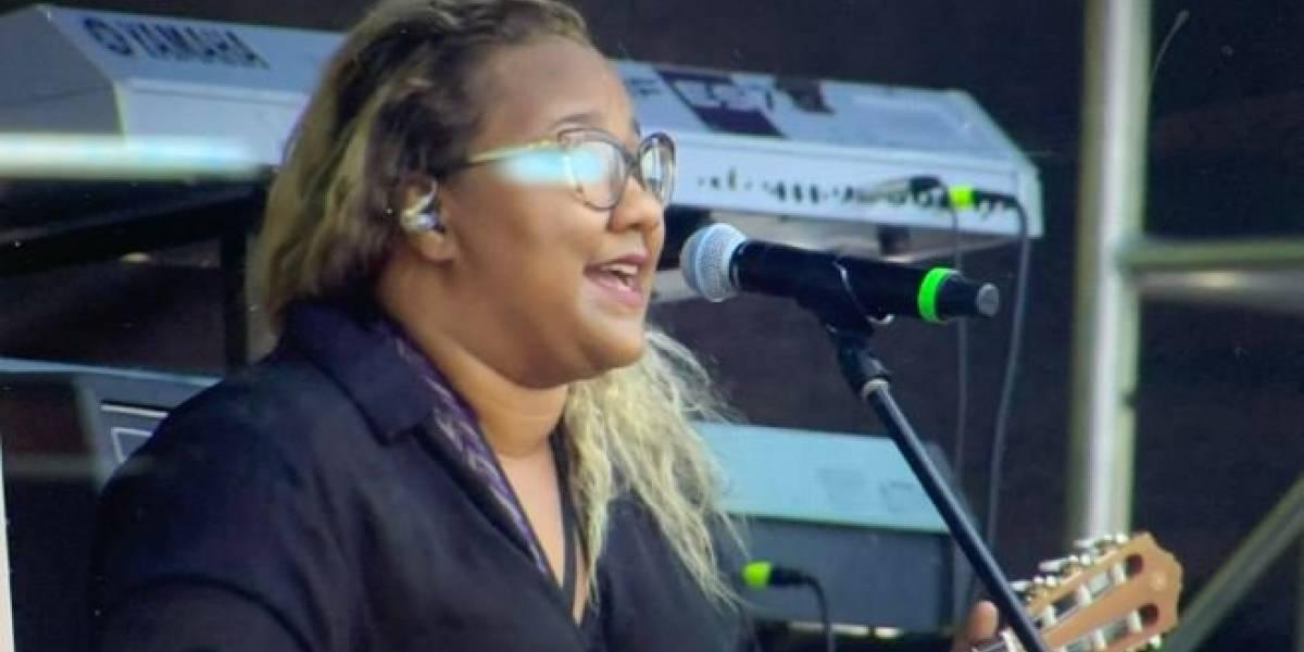 Reymar Perdomo, la cantante venezolana que abrió el concierto en la frontera y que hizo llorar a todos