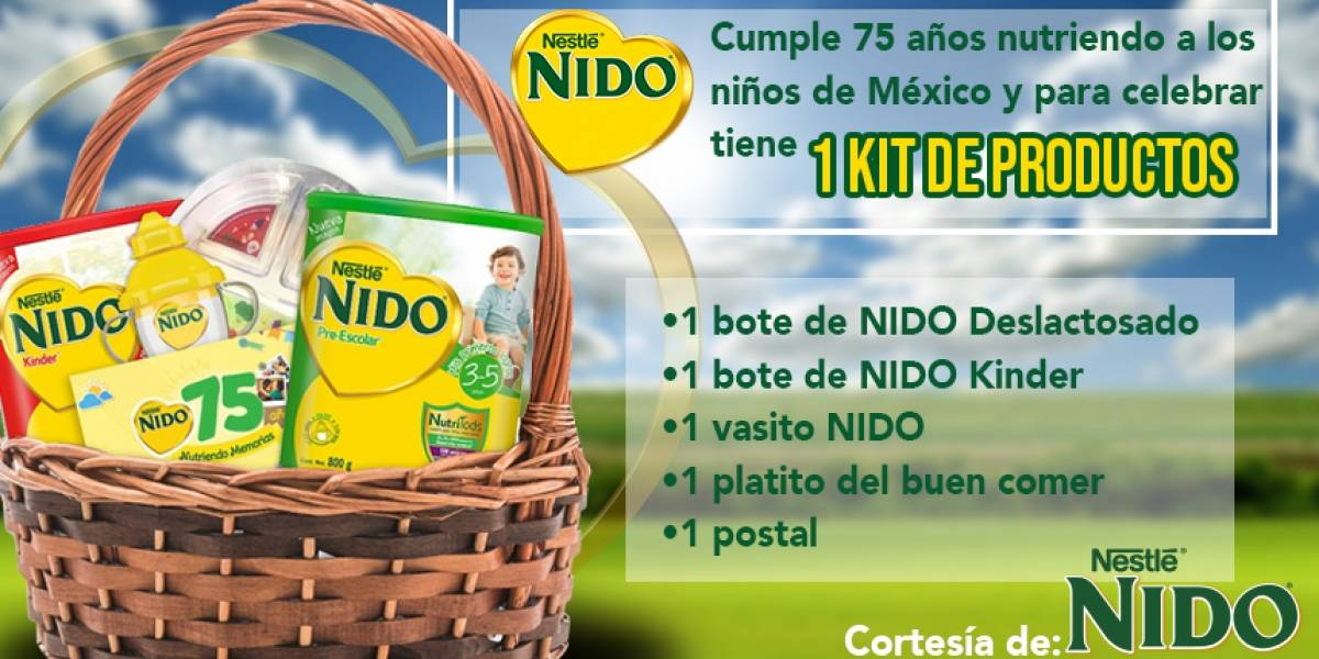 ¡Gana! un kit con productos NIDO