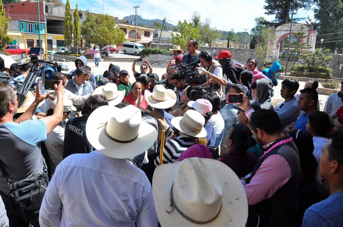Manifestaciones contra la termoeléctrica en Yecapixtla, Morelos Foto: Notimex