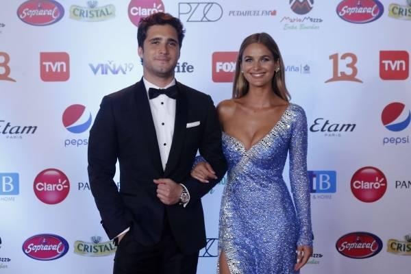 8ef0d9eb5 Gala Viña 2019  Diego Boneta y Mayte Rodríguez deslumbraron juntos en la  alfombra roja