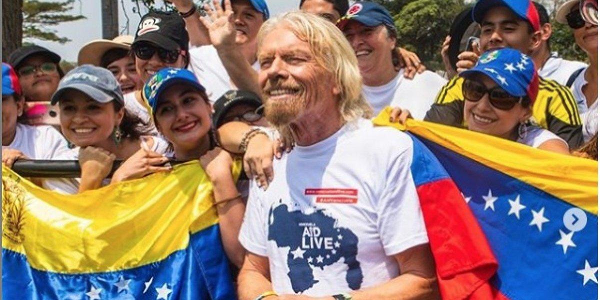Richard Branson y Fonseca arremetieron contra Roger Waters