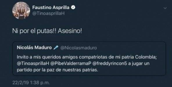2. Asprilla a Maduro