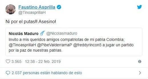 1. Asprilla a Maduro
