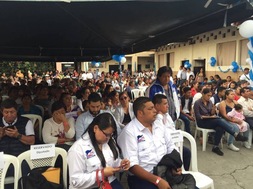 Presentan a candidatos a la corporación municipal de Guatemala por FCN-Nación. Foto: Omar Solís