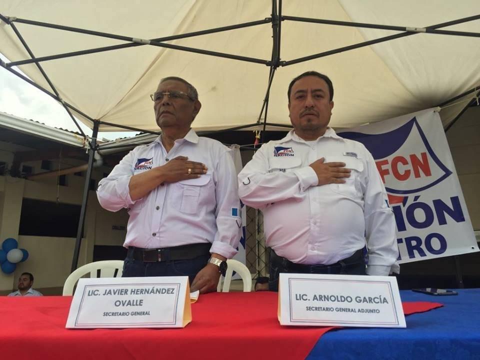 Secretario general y secretario adjunto de Guatemala por FCN-Nación. Foto: Omar Solís