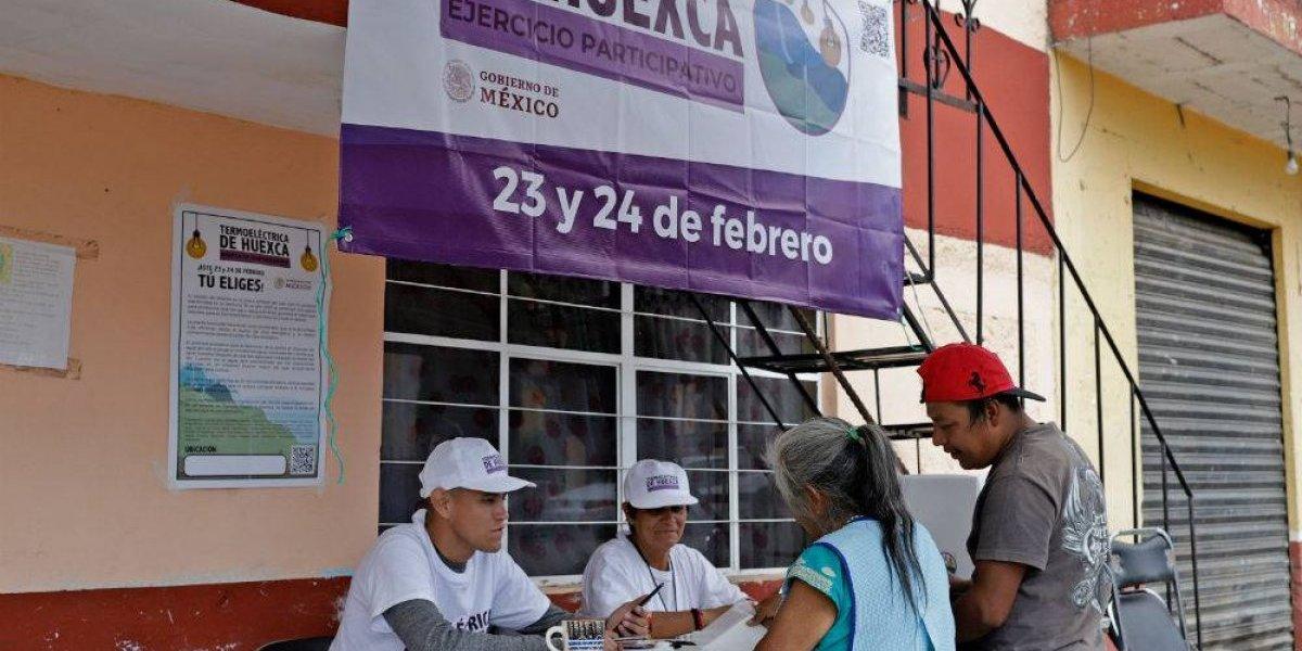 Primer día de la consulta de termoeléctrica termina con baja participación en Morelos