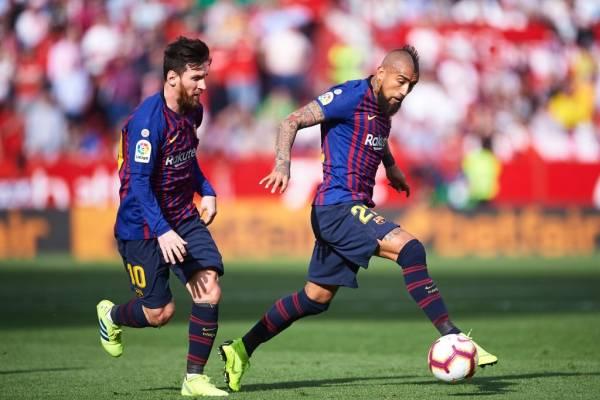 Messi y Vidal