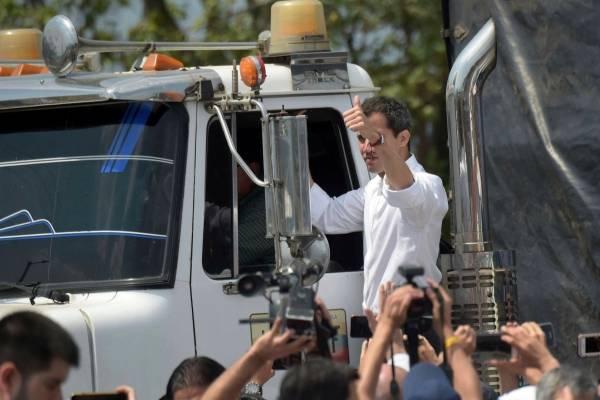 Guaidó lleva ayuda humanitaria a Venezuela