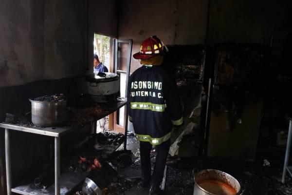 Incendio en Arrin Cuan de La Antigua Guatemala