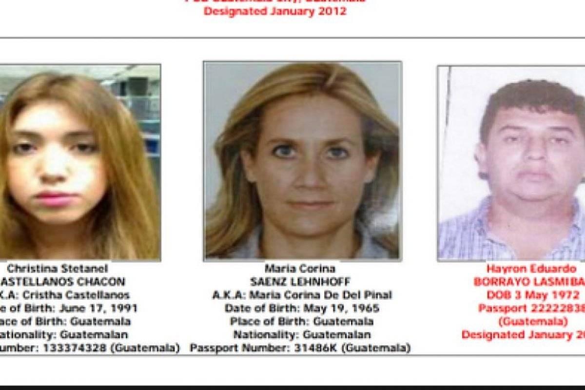 """Personas vinculadas a Marllory Chacón, alias """"la Reina del Sur"""". Foto: Ofac"""