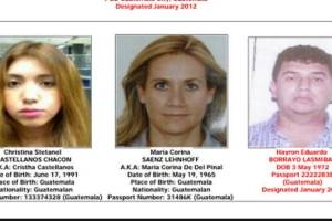 """Personas vinculadas a Marllory Chacón, alias """"la Reina del Sur""""."""