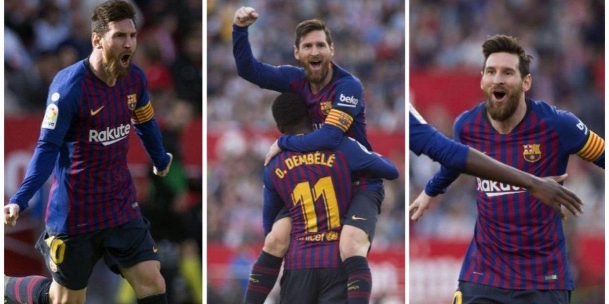 ¡Messi, Messi, Messi... y triunfo para el Barcelona!