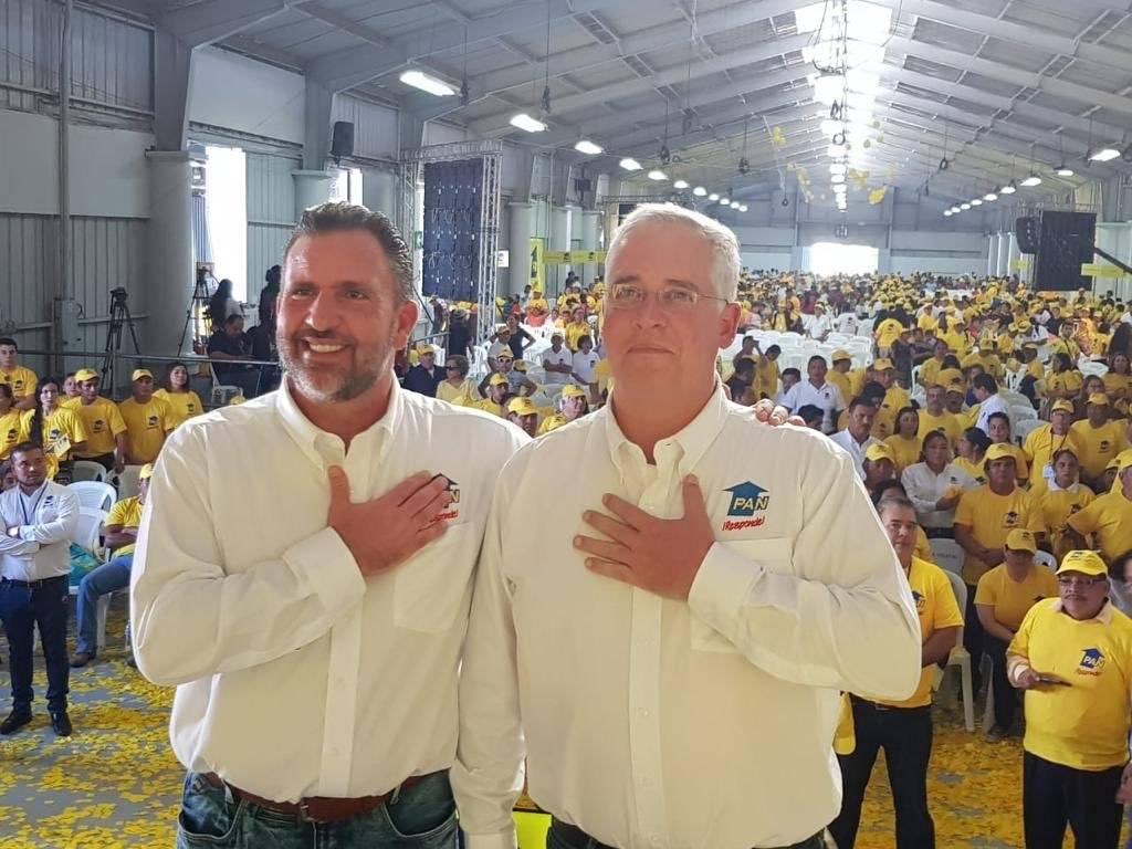Roberto Arzú y José Farias, binomio presidencial por la coalición PAN y Podemos. Foto: PAN