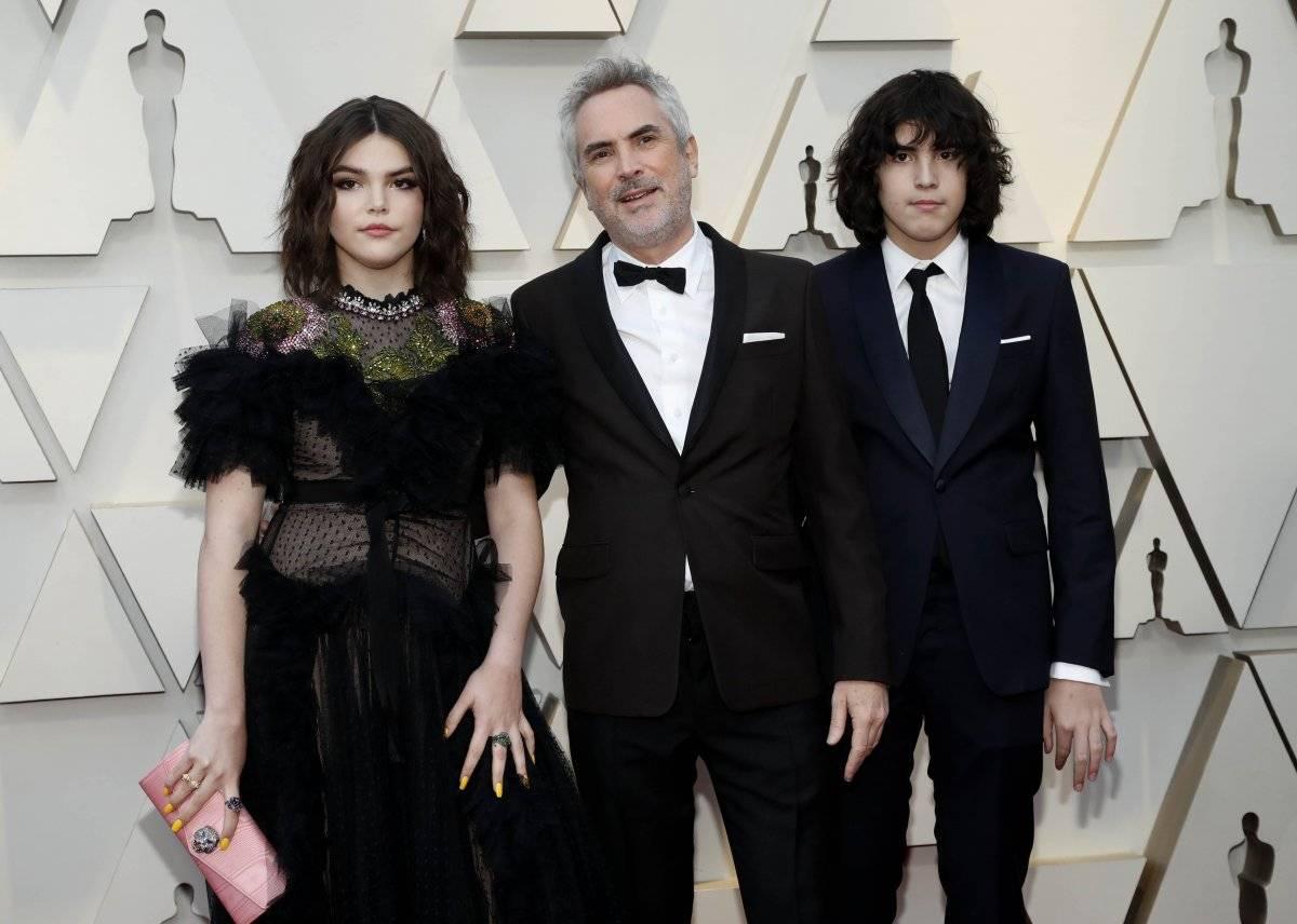 Alfonso Cuarón e os filhos Oscar 2019