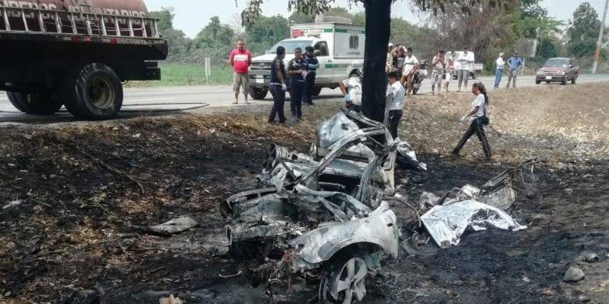 VIDEO. Cuatro personas pierden la vida en accidente en ruta a Puerto Quetzal