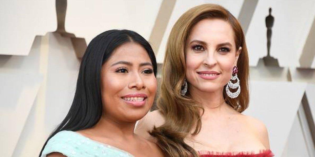 Yalitza y Marina De Tavira deslumbran en alfombra roja de los Óscar 2019