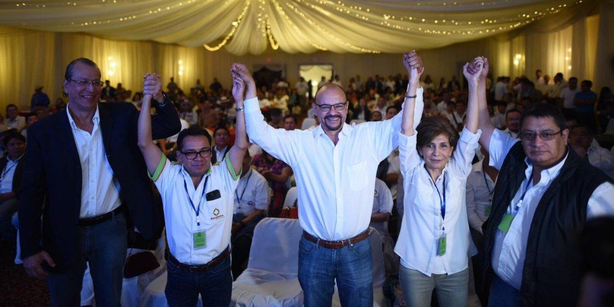 Encuentro por Guatemala proclama a su binomio presidencial