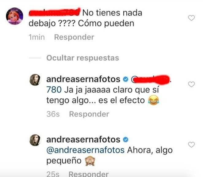 Respuesta de Andrea Serna