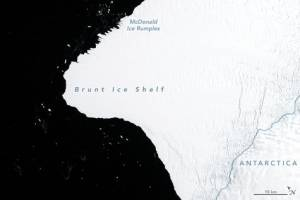 Enorme glaciar