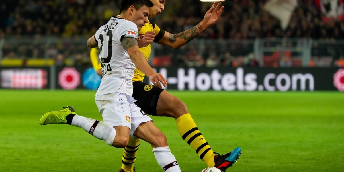 El Bayer Leverkusen de Charles Aránguiz cayó en su visita ante el poderoso Borussia Dortmund