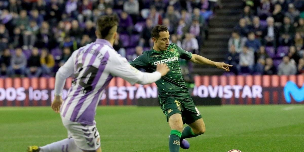 Lainez salió lesionado en la victoria del Betis ante el Valladolid
