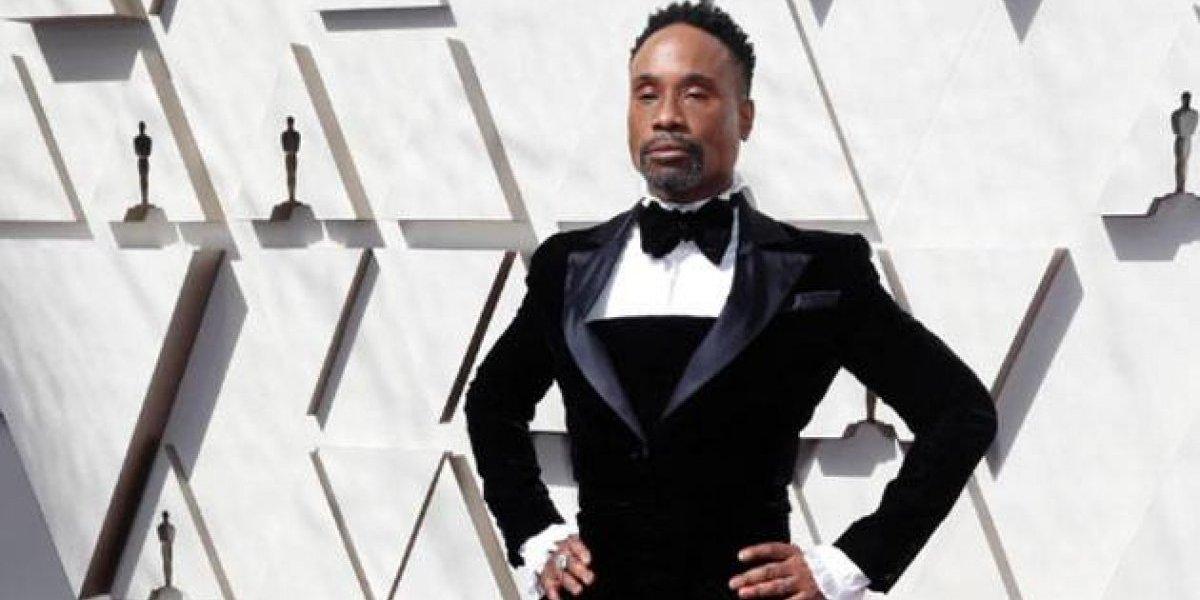 El hombre con vestido largo que sorprendió en la alfombra roja de los Oscar 2019