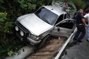 Picop se accidenta en Quetzaltenango