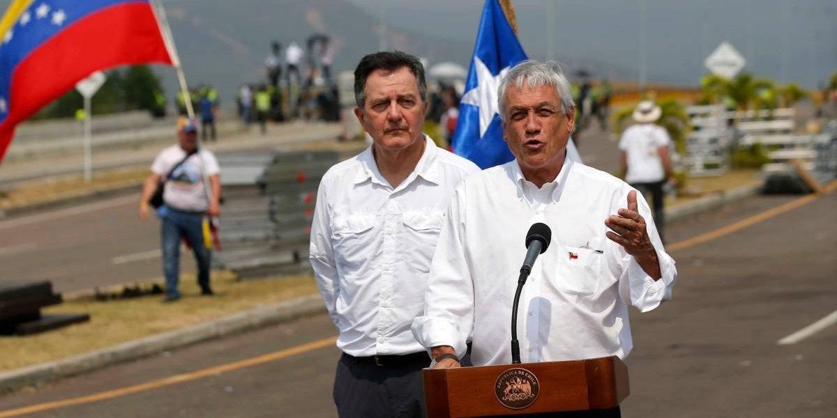"""Ex miembros de la Nueva Mayoría calificaron de """"fracaso estruendoso"""" viaje de Piñera a Cúcuta para entregar ayuda humanitaria"""
