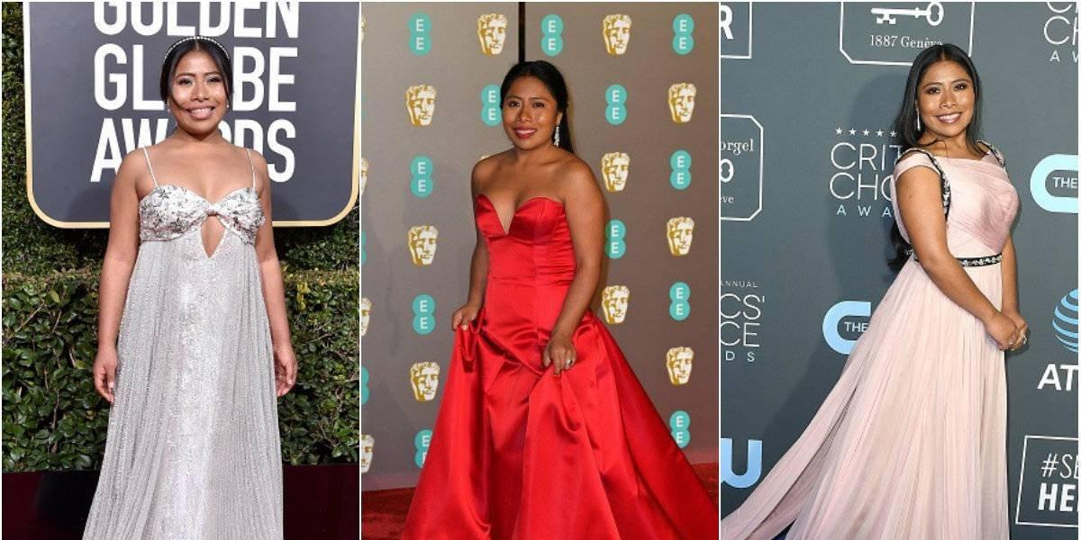Los mejores vestidos de alfombra roja de Yalitza Aparicio