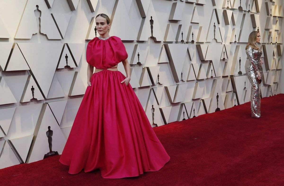 """O vestido Brandon Maxwell deixou Sarah Paulson, da série """"American Horror Story"""" com um efeito"""