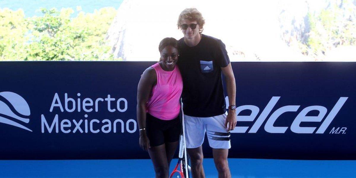 Stephens y Zverev inauguran el Abierto Mexicano de Tenis