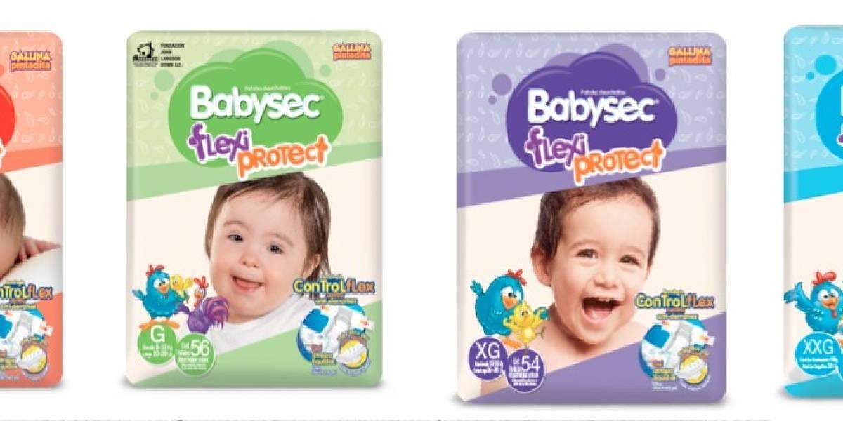 Marca de pañales elige como imagen a bebé con síndrome de Down