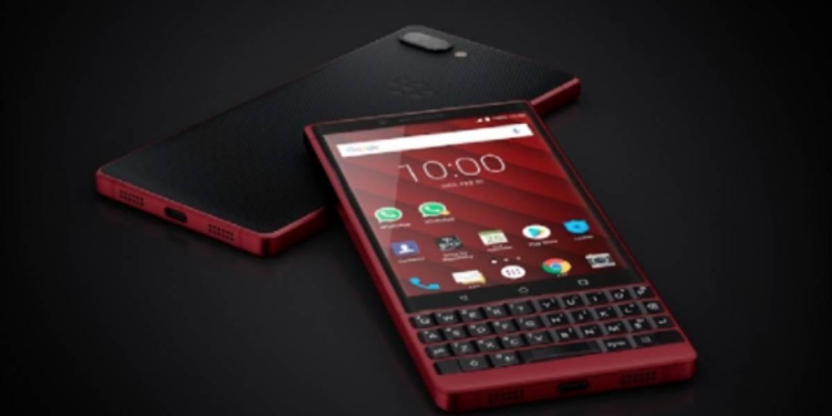 Blackberry y su elegante smartphone rojo en el MWC