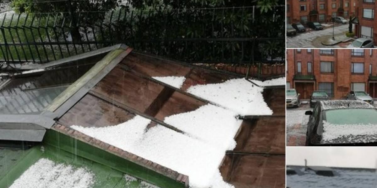 FOTOS Y VIDEOS: fuerte lluvia con granizo en Bogotá