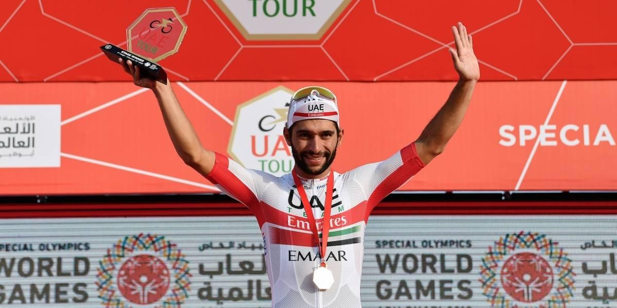Fernando Gaviria se impuso en el sprint de la etapa 2 del Tour de los Emiratos