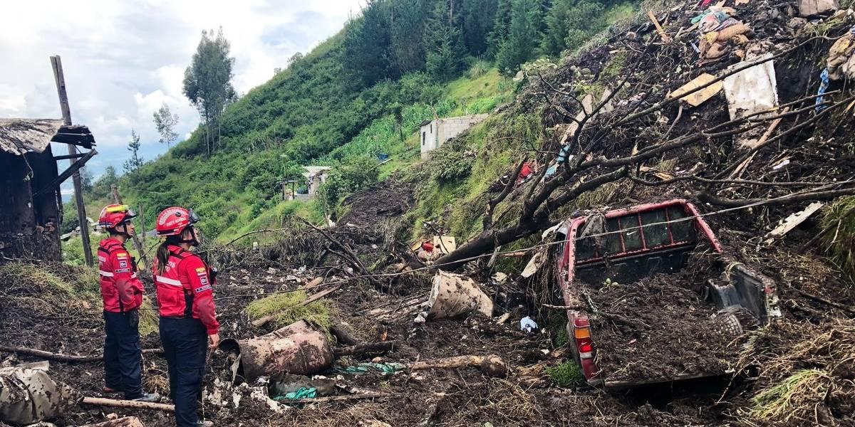 Quito: Siete personas heridas durante deslizamiento de tierra en Conocoto