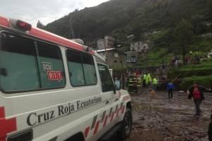 Deslizamiento de tierra en Conocoto