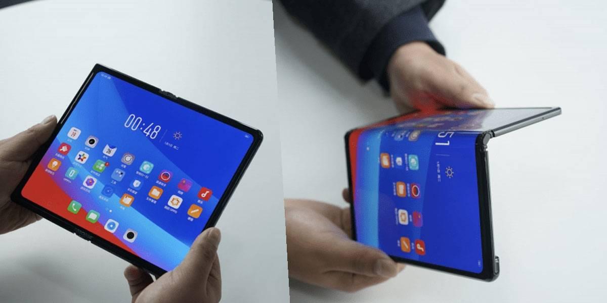 Oppo revela su smartphone plegable y es como un Huawei Mate X