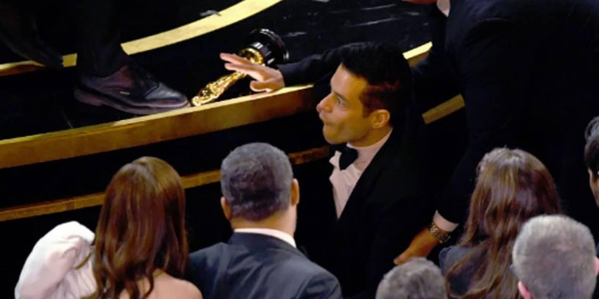 Oscar 2019: Rami Malek debió ser auxiliado por paramédicos tras caerse del escenario