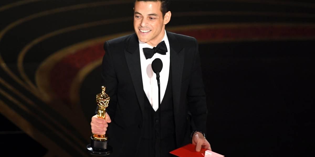 Rami Malek fue atendido por médicos tras sufrir caída al recibir Oscar a mejor actor
