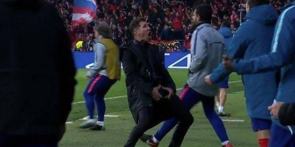'Cholo' Simeone podría ser sancionado tras 'obsceno' festejo