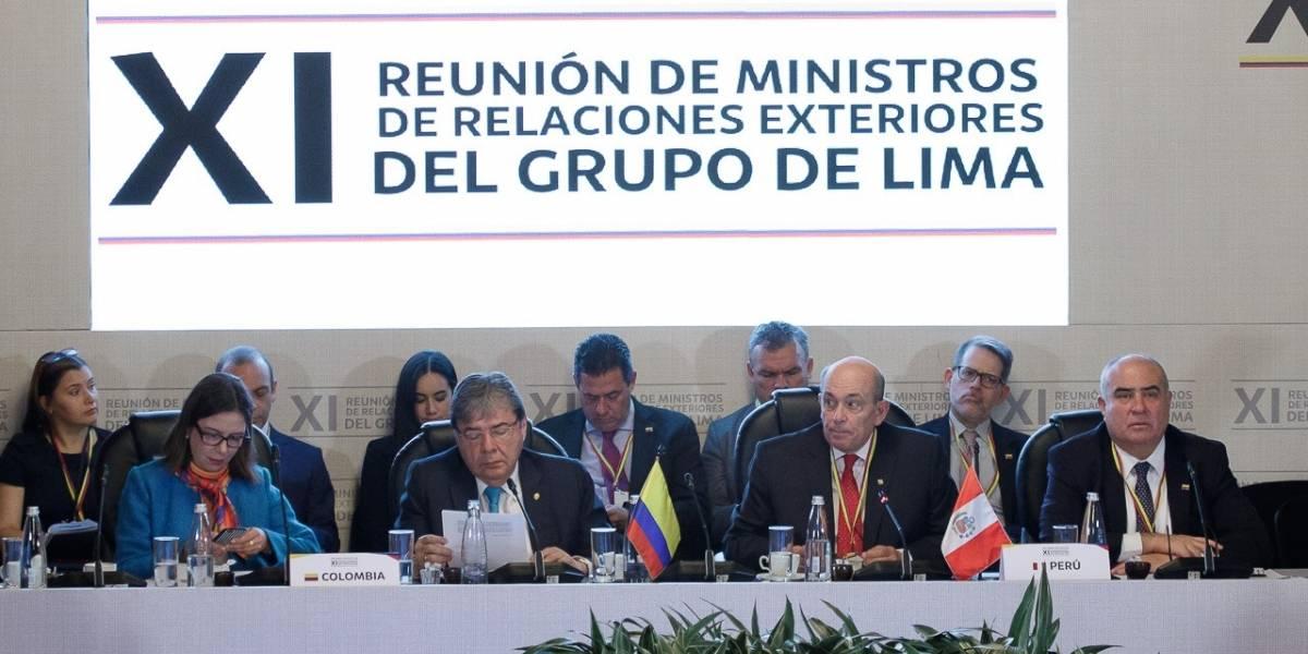 EN VIVO | Grupo de Lima se reúne con Guaidó, EE.UU., y aliados para tratar crisis en Venezuela