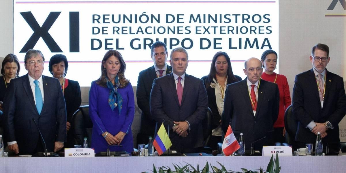 Sin nombrarlo, Iván Duque pide al Grupo de Lima estrechar el cerco diplomático a Maduro