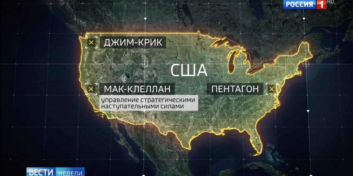 Listos para el ataque: televisión estatal rusa enumeró los blancos de EEUU con los que Putin probaría sus misiles