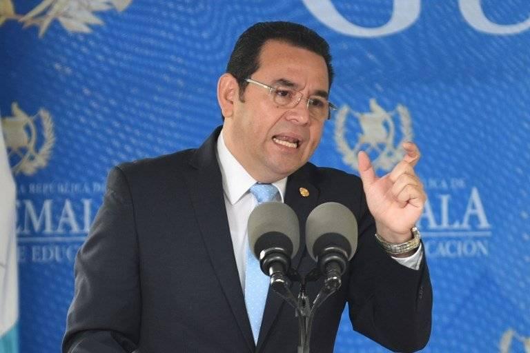 El presidente Jimmy Morales afirmó haberse reunido con Mario Estrada. Foto: AFP