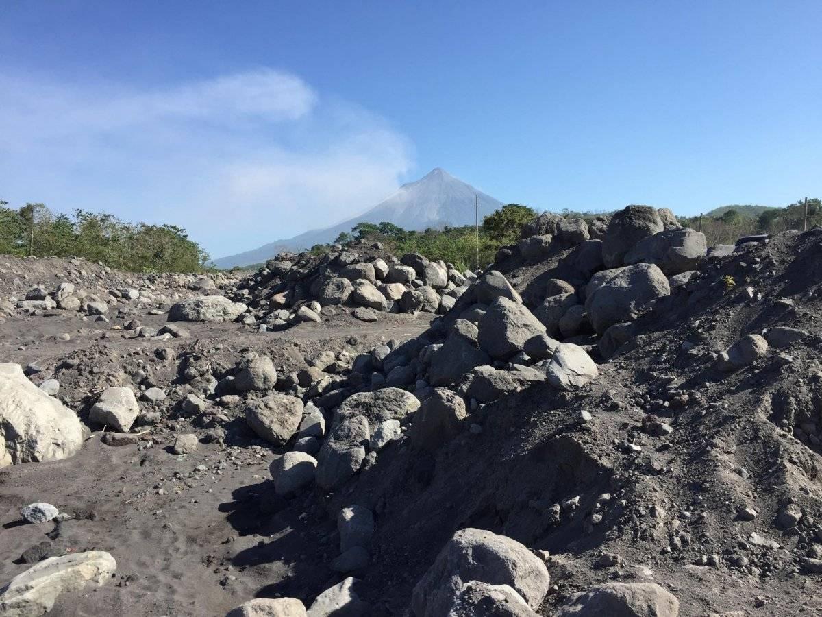 Sedimentos del volcán de Fuego afectan caudales de los ríos Achiguate y Coyolate Foto: Álvaro Alay
