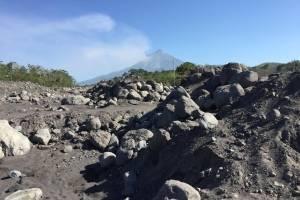 Sedimentos del volcán de Fuego afectan caudales de los ríos Achiguate y Coyolate