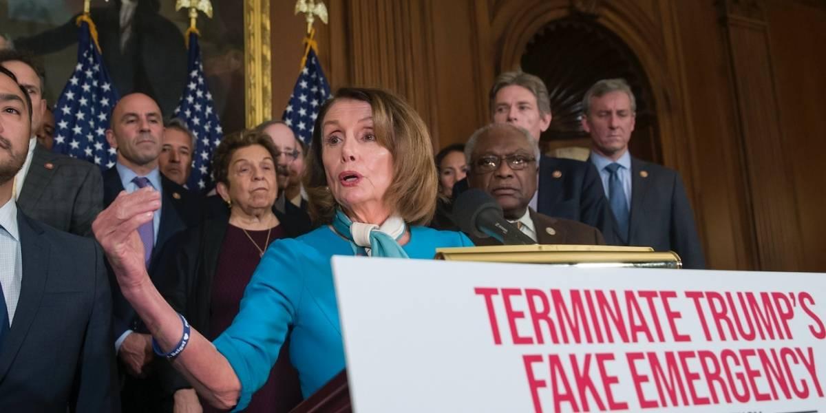 Cámara baja aprueba iniciativa contra emergencia de Trump